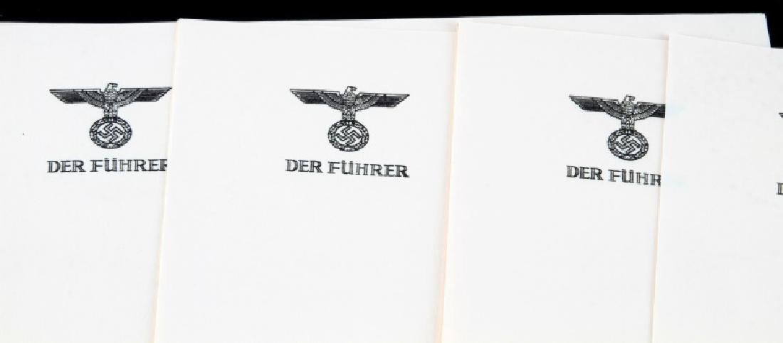 9 OF HITLERS PERSONAL STATIONARY GERMANY WWII - 2