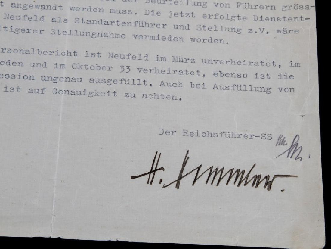 WWII GERMAN THIRD REICH SS HIMMLER SIGNED DOCUMENT - 4