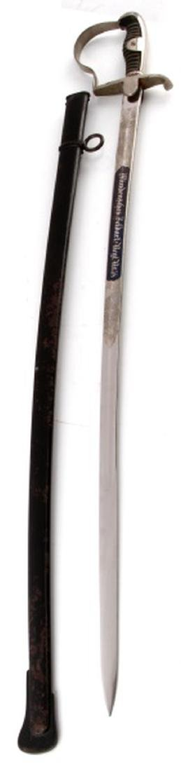 WWI IMPERIAL GERMAN ETCHED FIELD ARTILLERY SWORD - 3