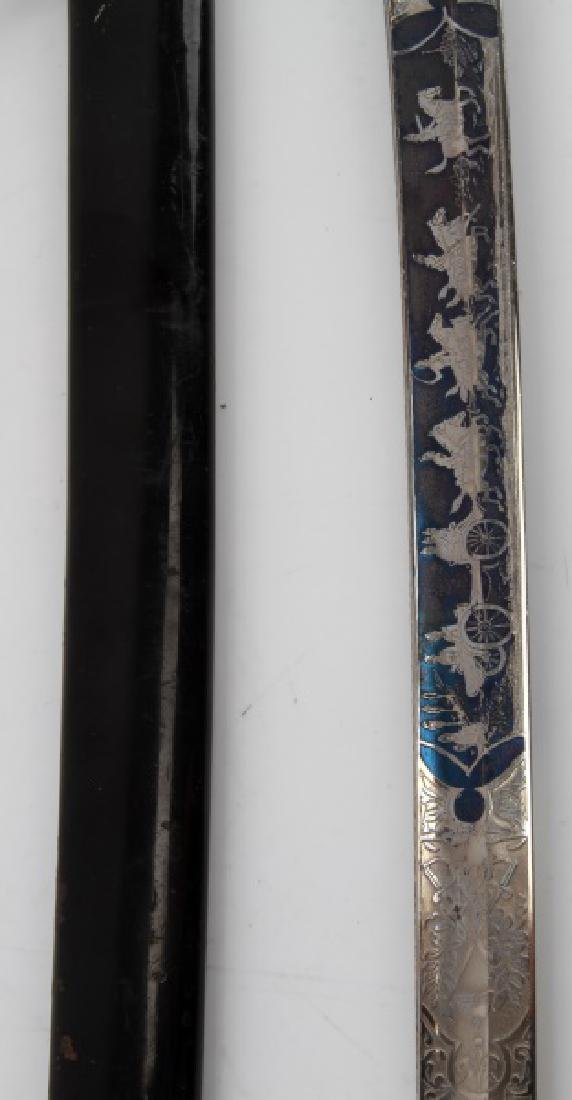 WWI IMPERIAL GERMAN ETCHED FIELD ARTILLERY SWORD - 7