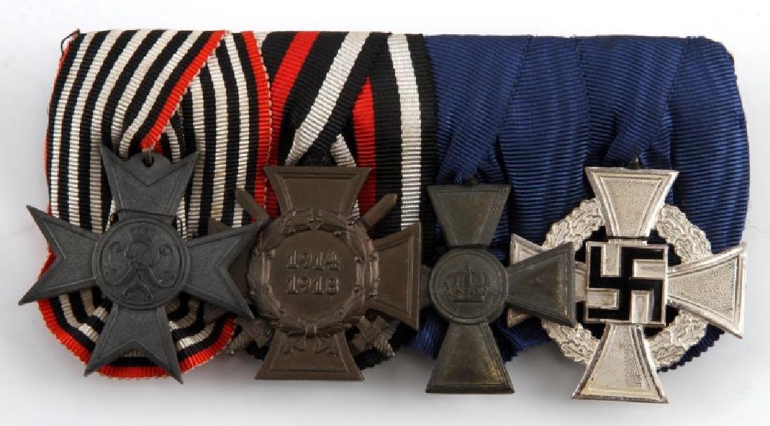 WWI & WWII GERMAN REICH FOUR MEDAL BAR