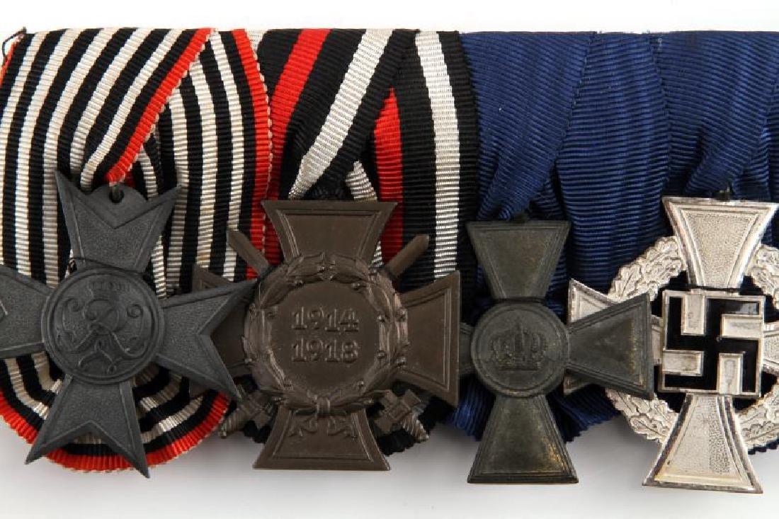 WWI & WWII GERMAN REICH FOUR MEDAL BAR - 2