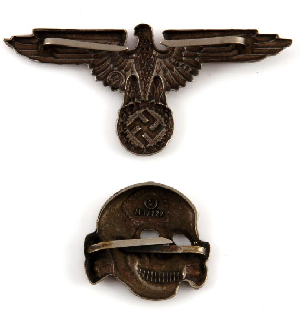 WWII GERMAN 3RD REICH SS CAP SKULL AND TOTENKOPF - 2