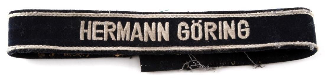 WWII GERMAN LUFTWAFFE HERMANN GORING CUFF TITLE