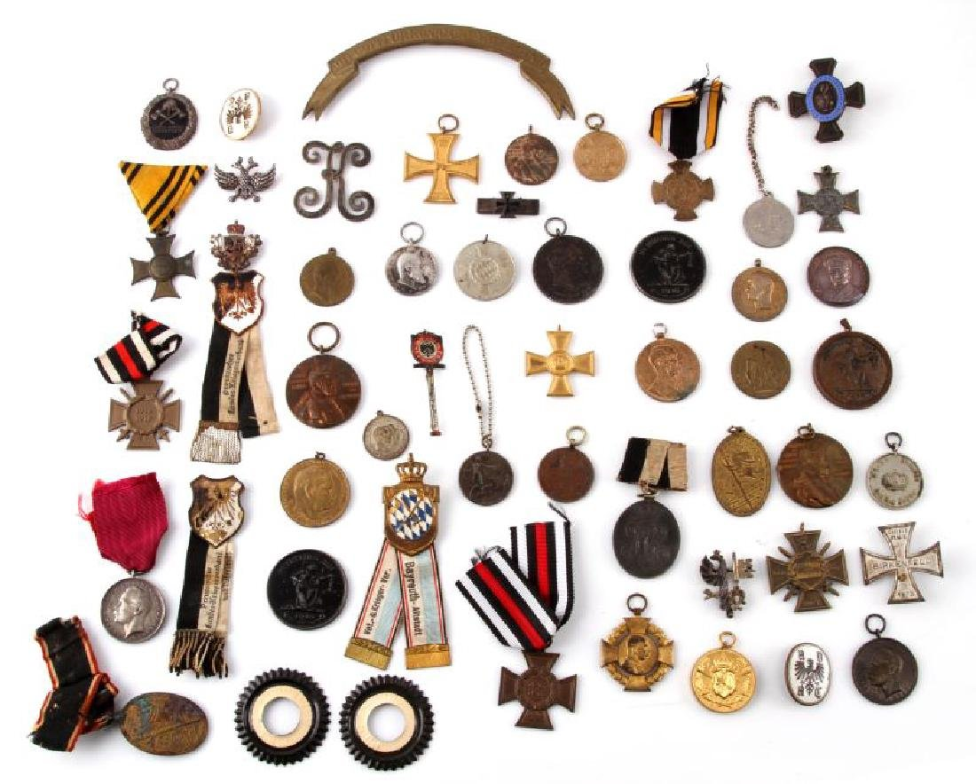 LOT OF 30 PLUS WWI GERMAN MILITARY MEDALS