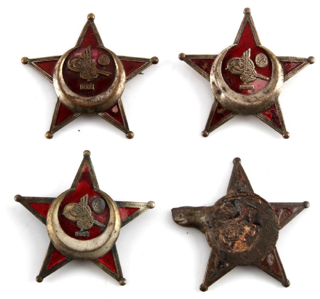 LOT OF 4 TURKISH GALLIPOLI STAR OTTOMAN MEDALS