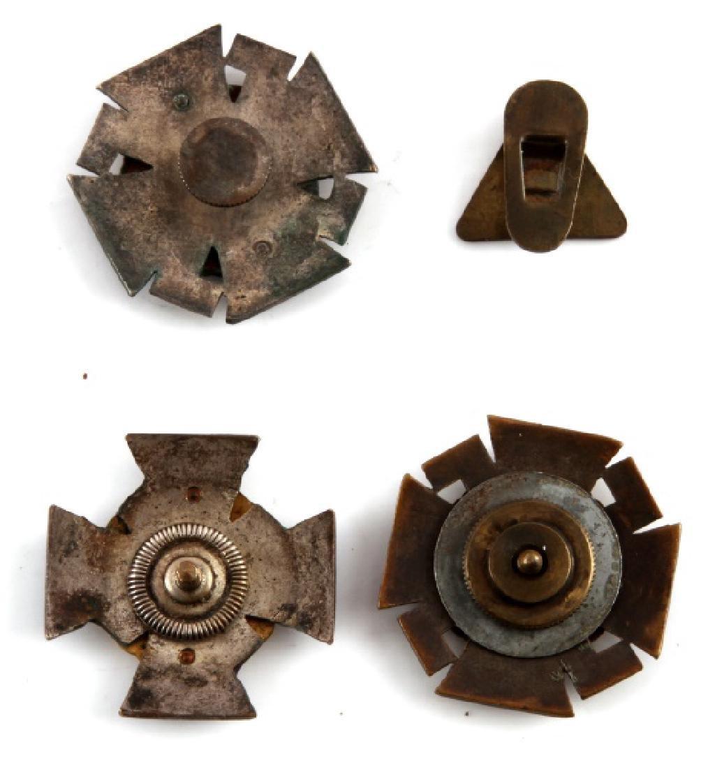 LOT OF 3 FINLAND NORDFRONT KREUZ PINS & 1 NSB PIN - 2