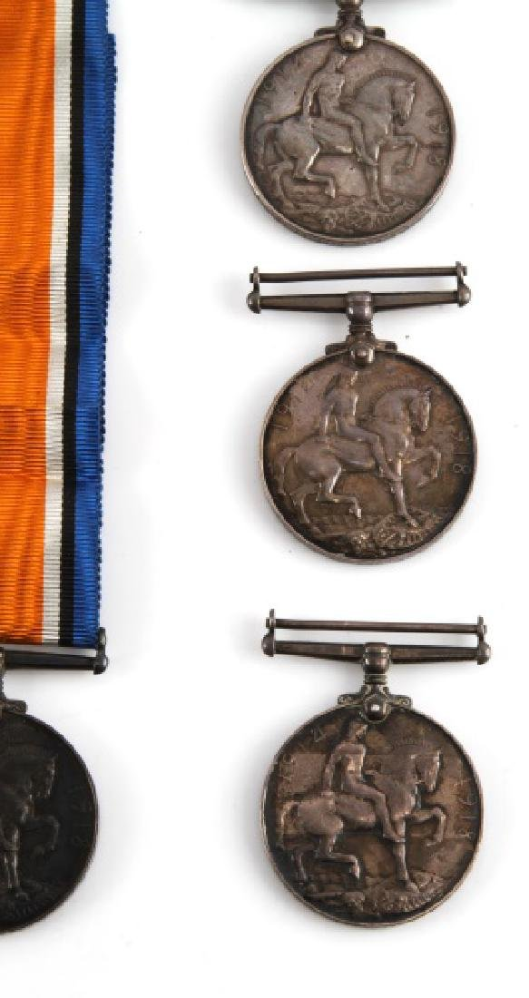 5 WWI BRITISH CANADA NAMED SERVICE MEDALS & 1 WWII - 3