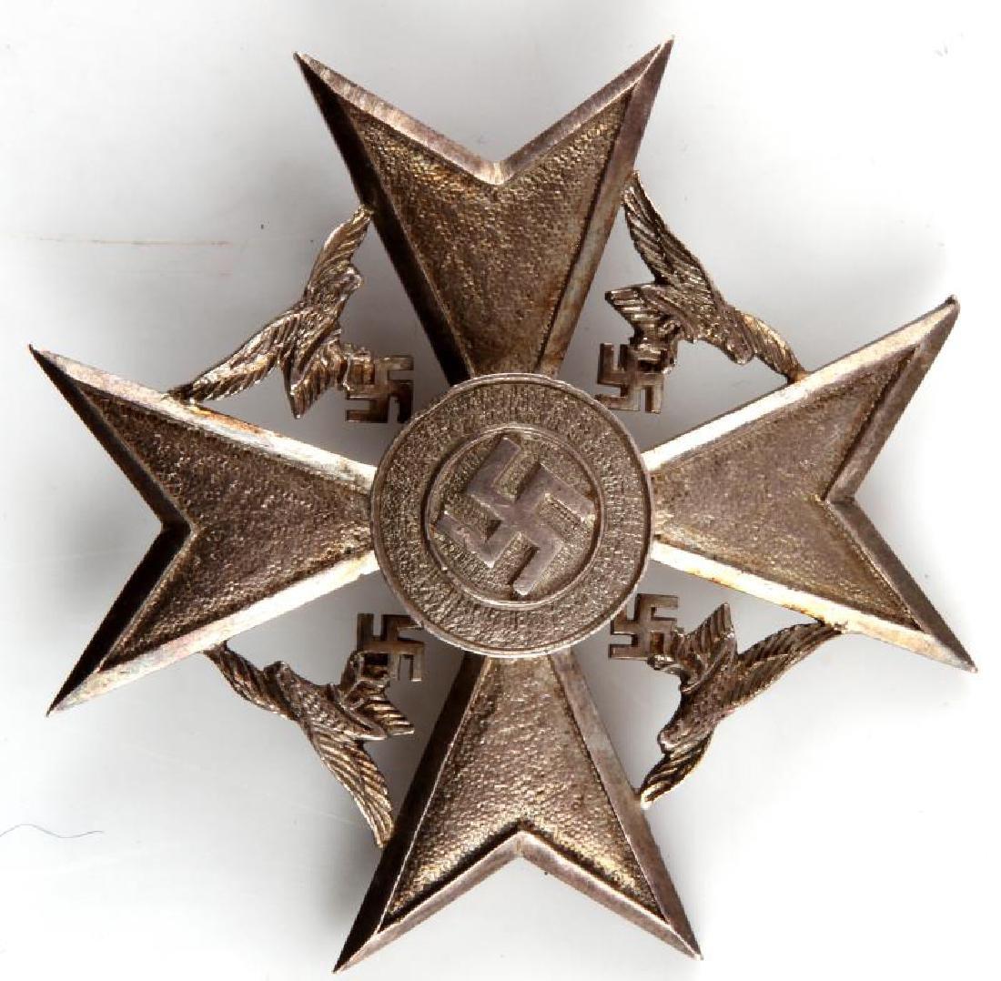 GERMAN WWII SPANISH CROSS IN SILVER W OUT SWORDS