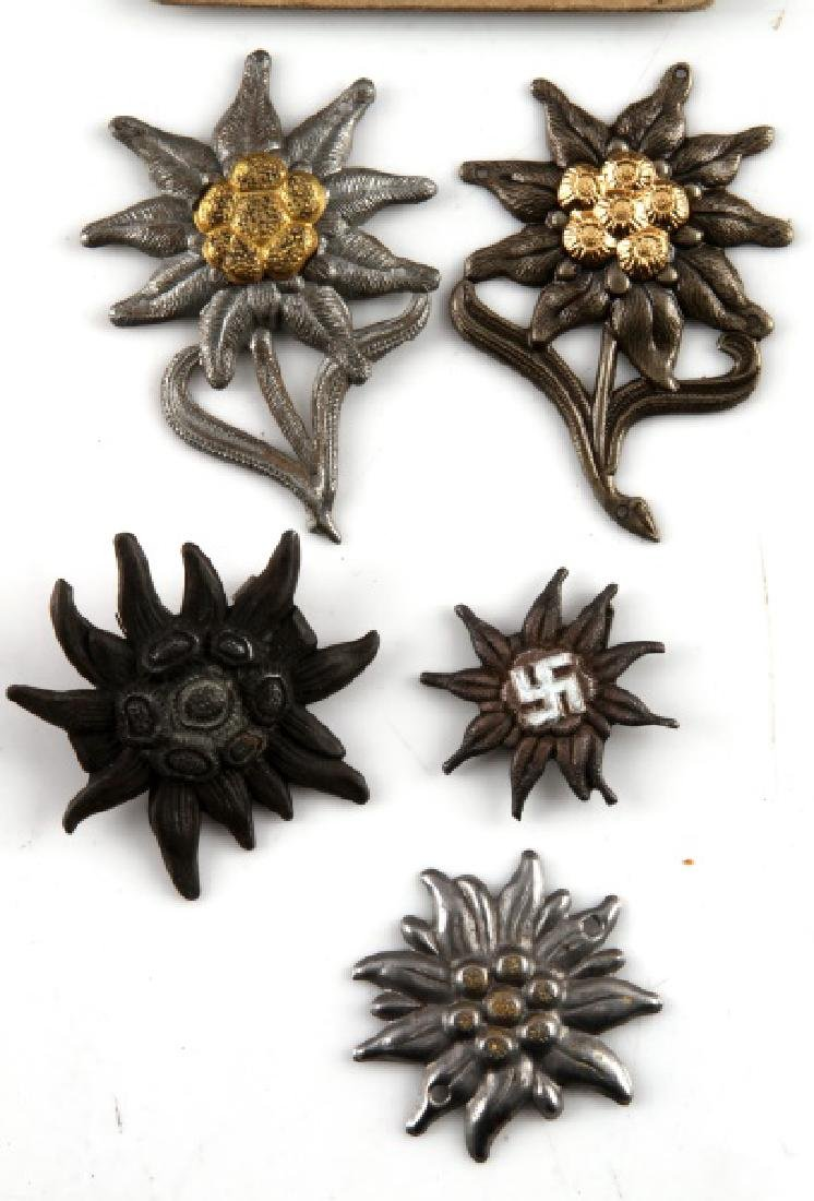 WWII GERMAN MOUNTAIN EDELWEISS GROUPING - 4