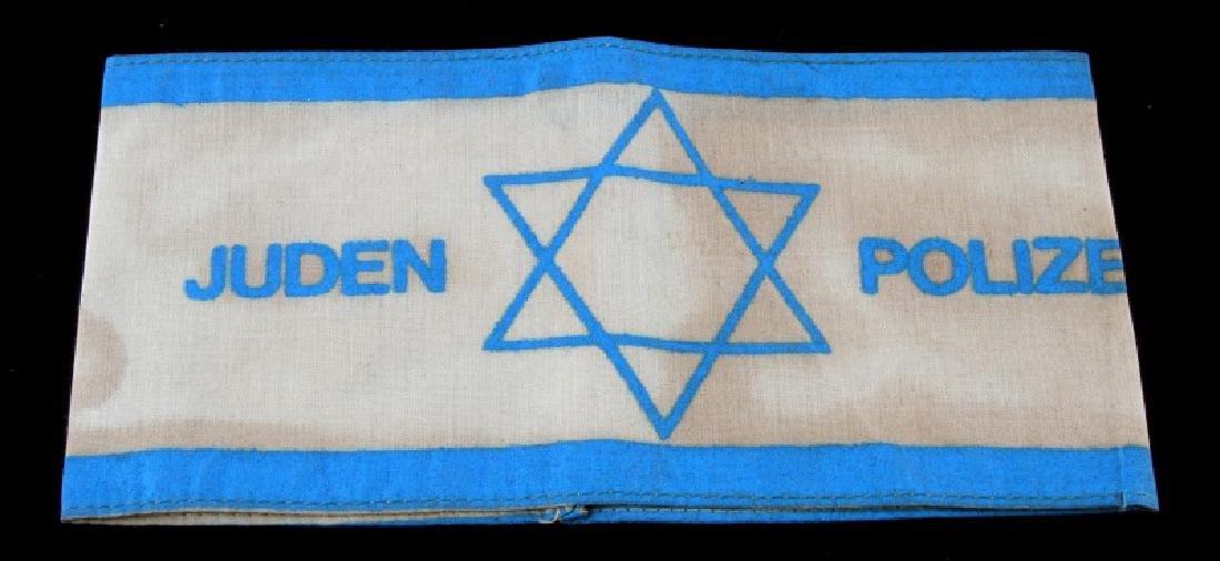 GERMAN WWII JUDEN POLIZEI ARM BAND BLUE WHITE