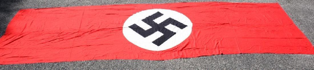 WWII GERMAN THIRD REICH PARTY SWASTIKA  BANNER