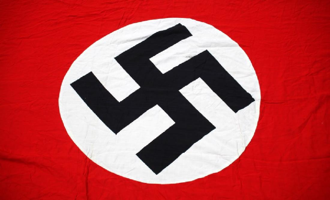 WWII THIRD REICH LARGE SYMBOL NSDAP PARTY BANNER - 2