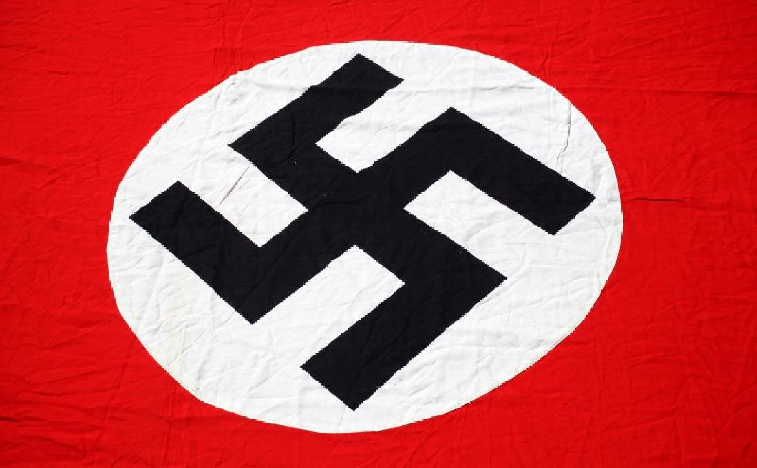 WWII THIRD REICH LARGE SYMBOL NSDAP PARTY BANNER - 5