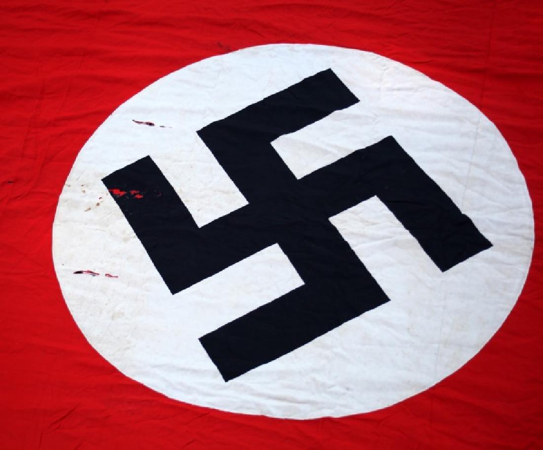 WWII GERMAN THIRD REICH PARTY FLAG 12 FEET X 44 IN - 2
