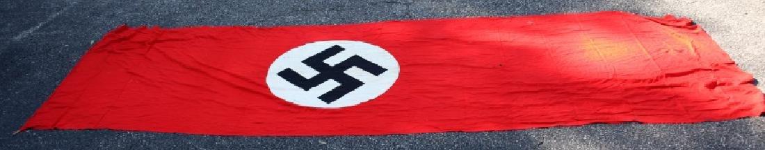 WWII GERMAN THIRD REICH PARTY FLAG 12 FEET X 44 IN - 7