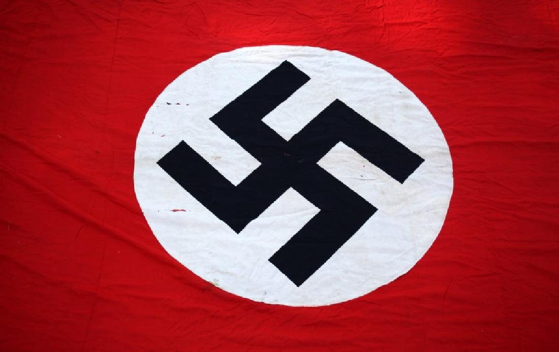 WWII GERMAN THIRD REICH PARTY FLAG 12 FEET X 44 IN - 8