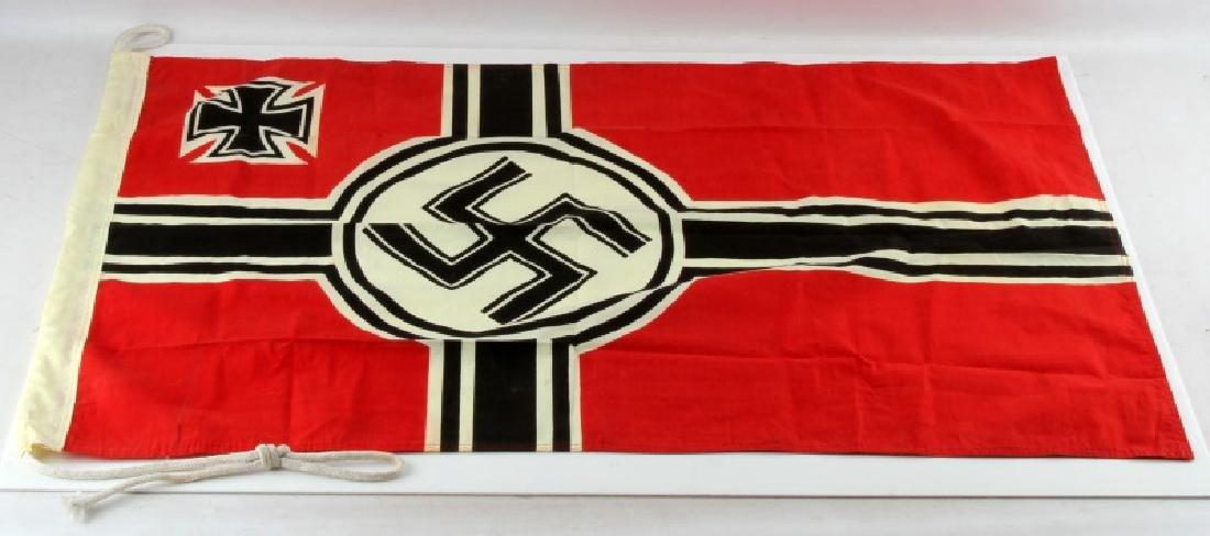 WWII GERMAN THIRD REICH REICHSKRIEGSFLAGGE FLAG
