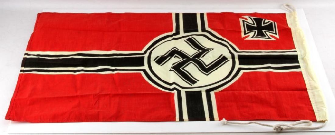 WWII GERMAN THIRD REICH REICHSKRIEGSFLAGGE FLAG - 3
