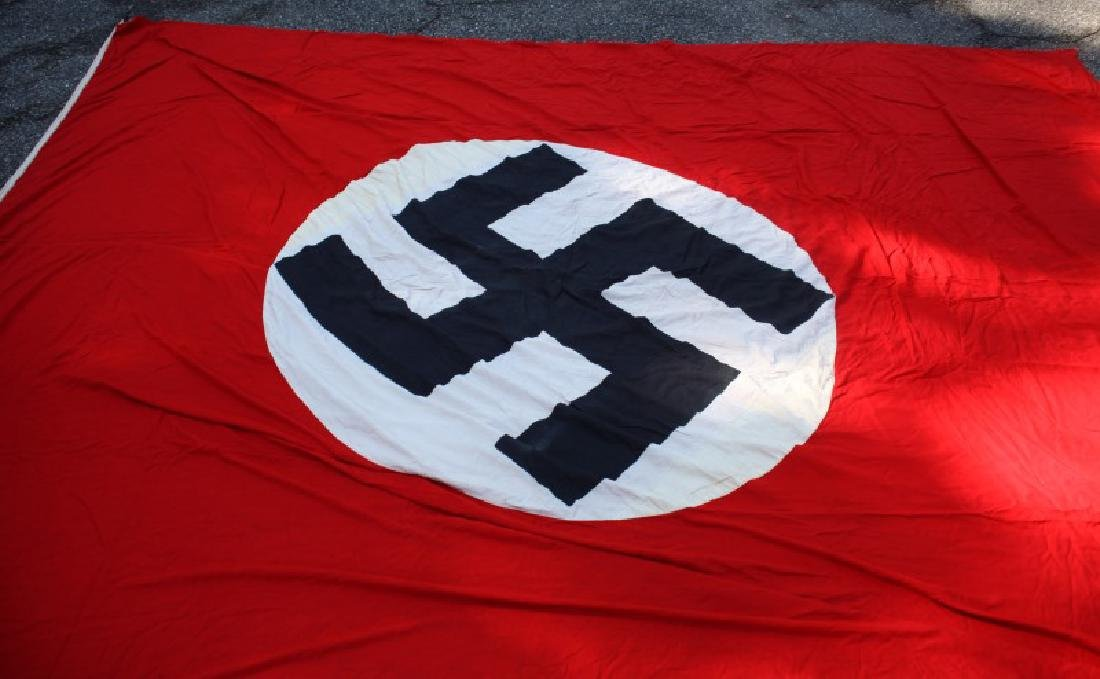 WWII THIRD REICH LARGE  PARTY BANNER 9 BY 12 FEET - 2