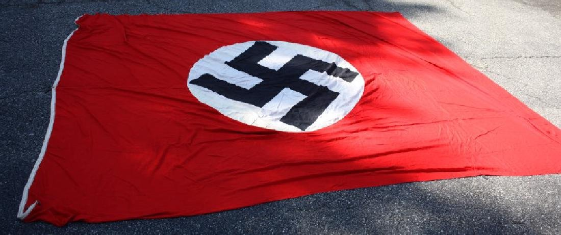 WWII THIRD REICH LARGE  PARTY BANNER 9 BY 12 FEET - 6