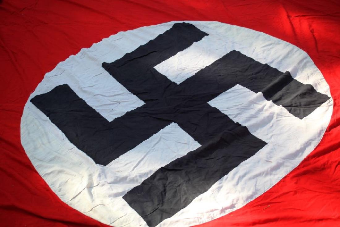 WWII THIRD REICH LARGE  PARTY BANNER 9 BY 12 FEET - 7