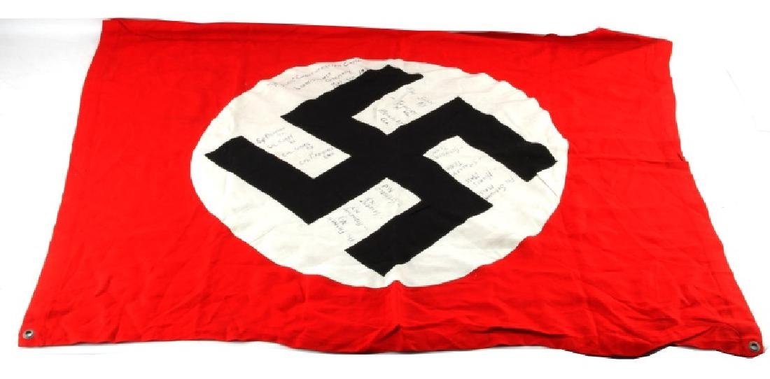 WWII THIRD REICH CAPTURED FLAG FROM WOBLAM