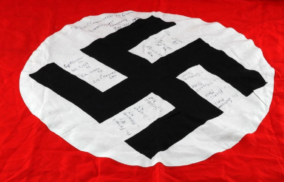 WWII THIRD REICH CAPTURED FLAG FROM WOBLAM - 2