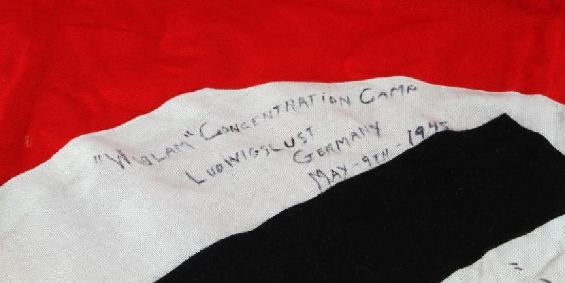 WWII THIRD REICH CAPTURED FLAG FROM WOBLAM - 4