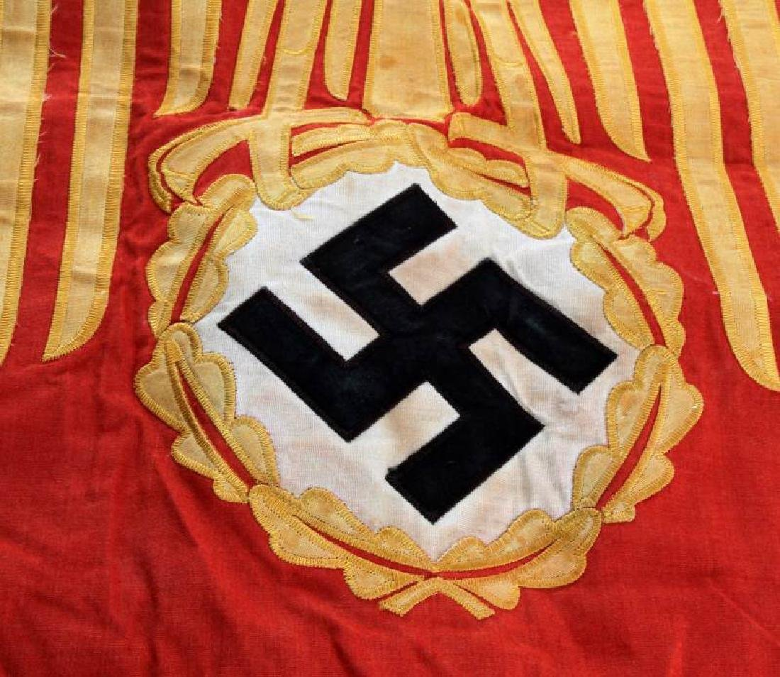 WWII GERMAN 3RD REICH SINGLE SIDED PODIUM BANNER - 3
