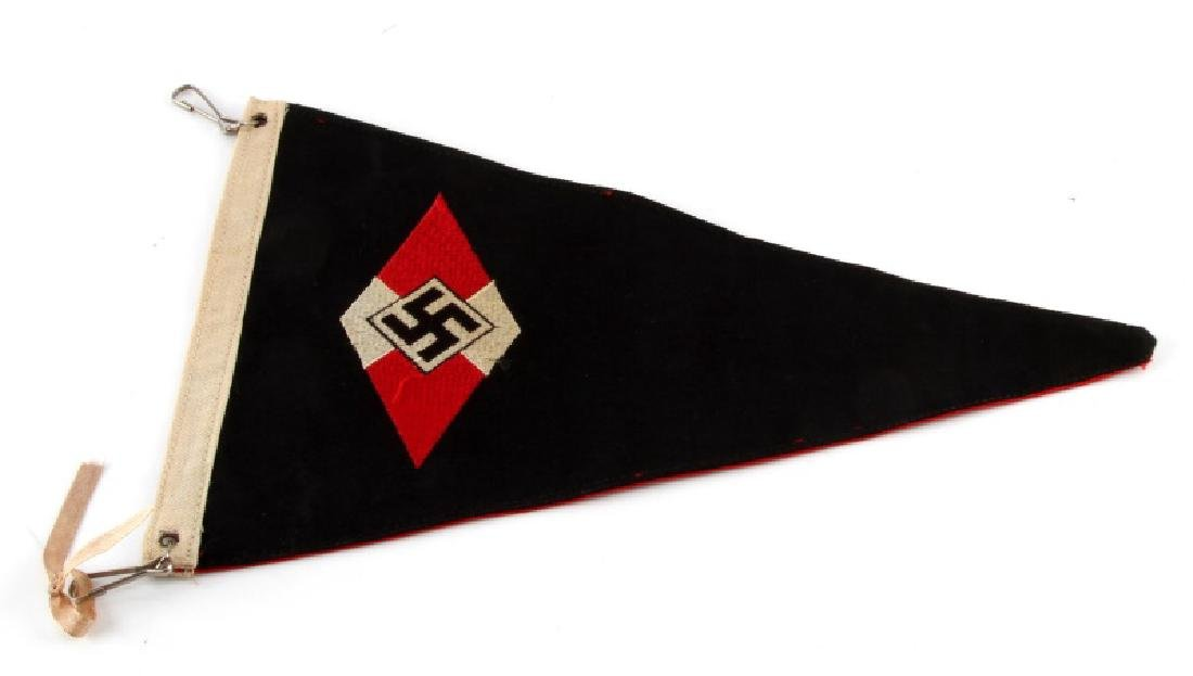 WWII GERMAN 3RD REICH HITLER YOUTH PENNANAT