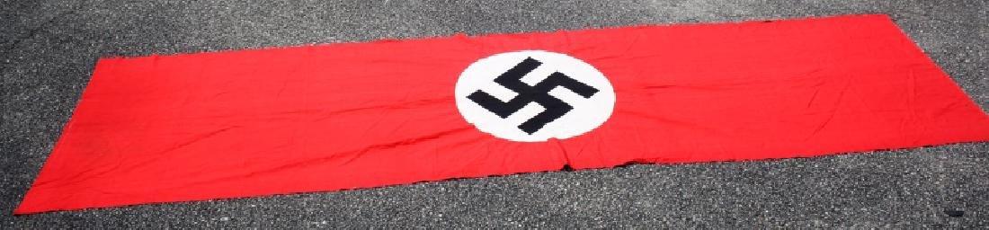 WWII GERMAN NSDAP MUNCHBERG 13 FT BANNER FLAG
