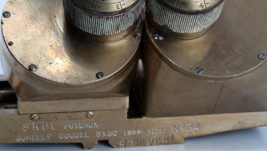 1935 SRPI PUTEAUX JUMELLE COUDEE 8X50 BINOCULARS - 3