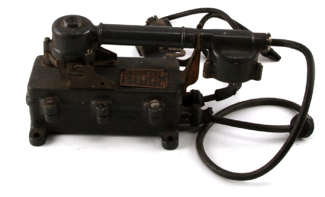WWII JAPANESE NAVY SHIP SOUND POWERED TELEPHONE