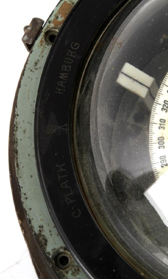 WWII GERMAN KRIEGSMARINE SHIPS BINNACLE COMPASS - 7