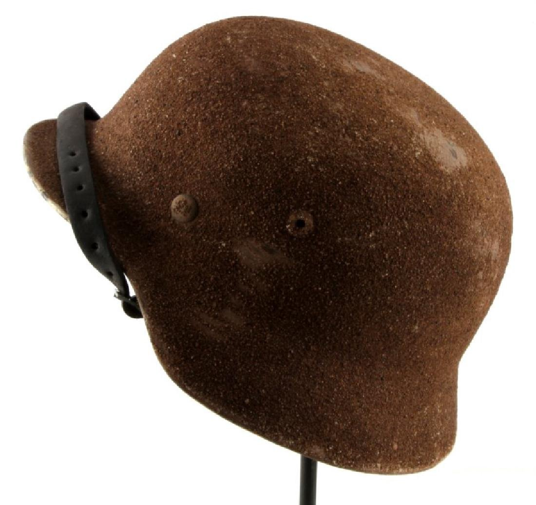 AK SAND M40 HELMET SIZE 57 WITH LEATHER LINER 1941 - 4