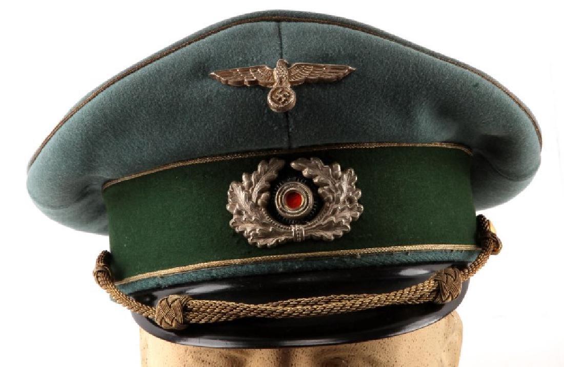 WWII GERMAN THIRD REICH HEER GENERAL'S VISOR CAP