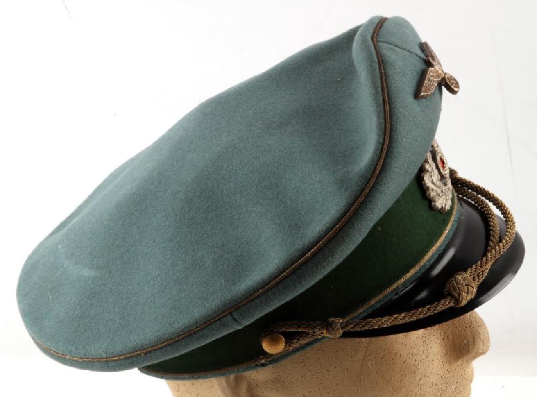 WWII GERMAN THIRD REICH HEER GENERAL'S VISOR CAP - 4
