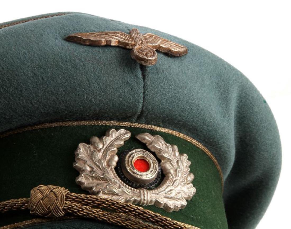 WWII GERMAN THIRD REICH HEER GENERAL'S VISOR CAP - 5