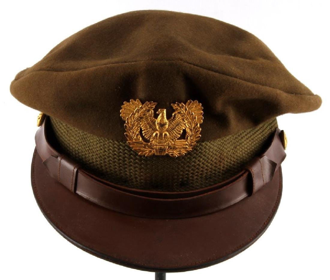 WWII ARMY AIR FORCE WARRANT OFFICER CRUSHER HAT
