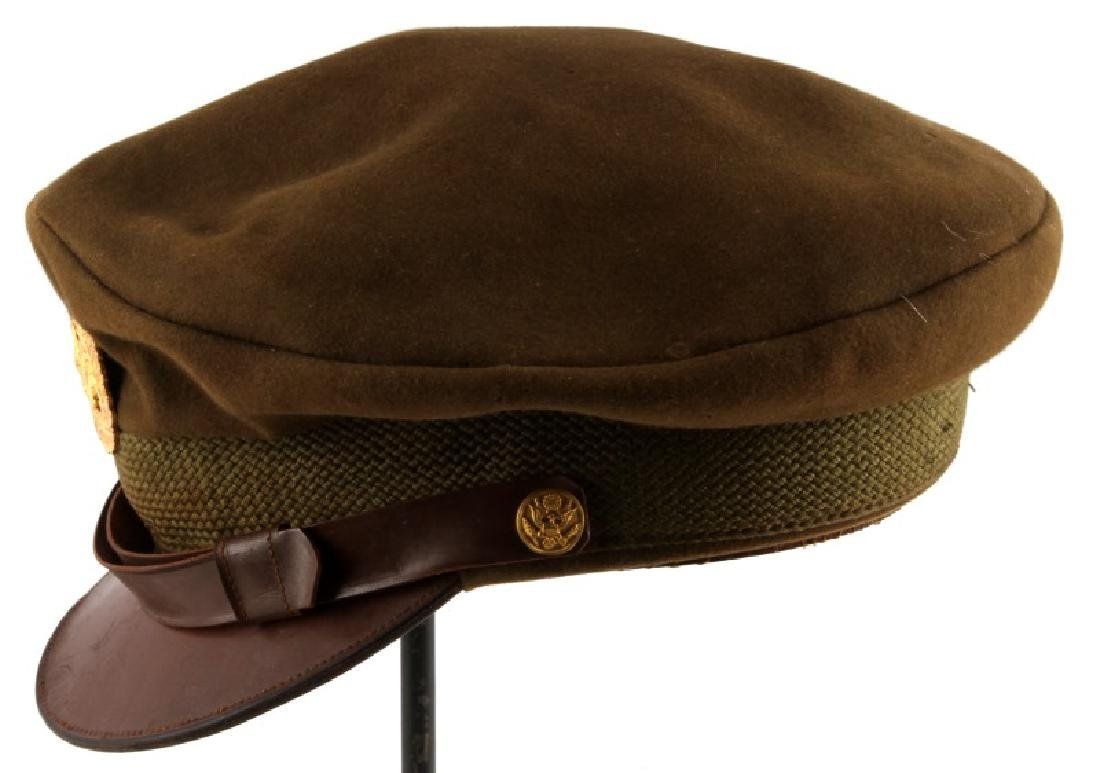 WWII ARMY AIR FORCE WARRANT OFFICER CRUSHER HAT - 3