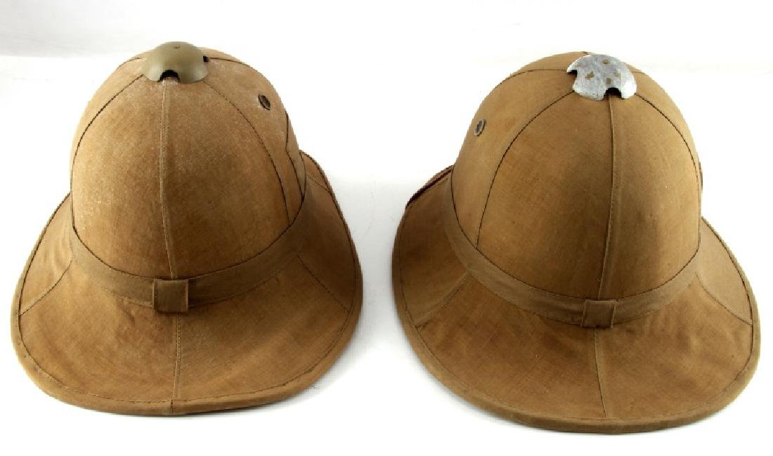 WWII LOT OF 2 ITALIAN TROPICAL PITH HELMETS - 3