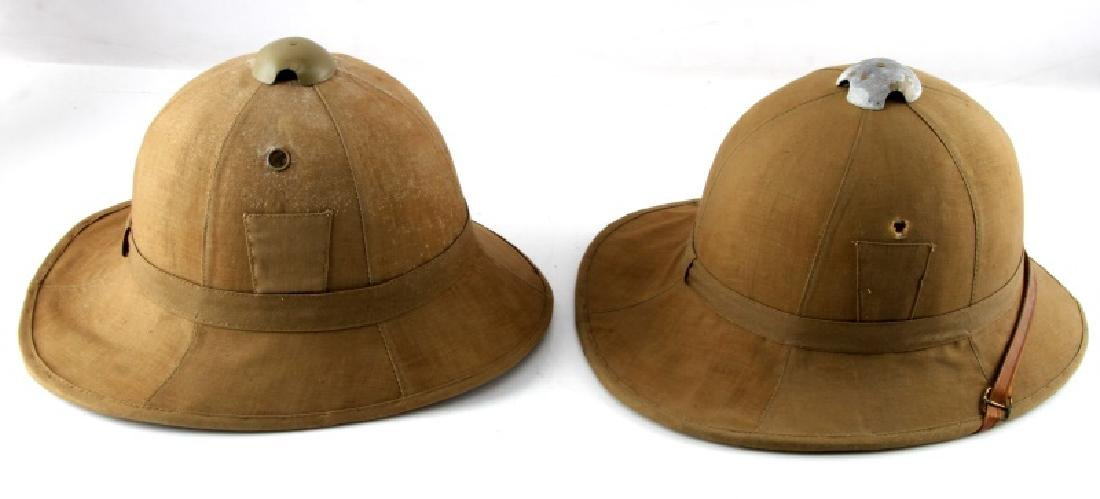 WWII LOT OF 2 ITALIAN TROPICAL PITH HELMETS - 4