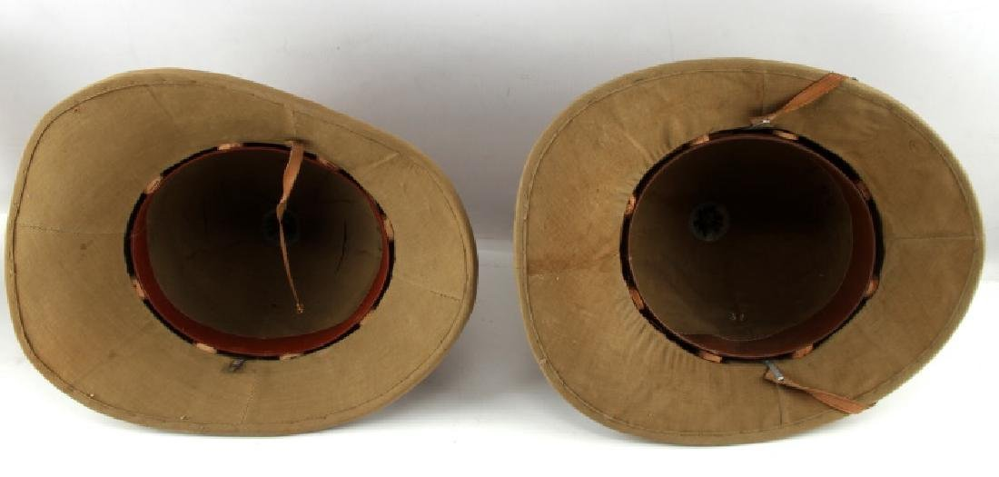 WWII LOT OF 2 ITALIAN TROPICAL PITH HELMETS - 5