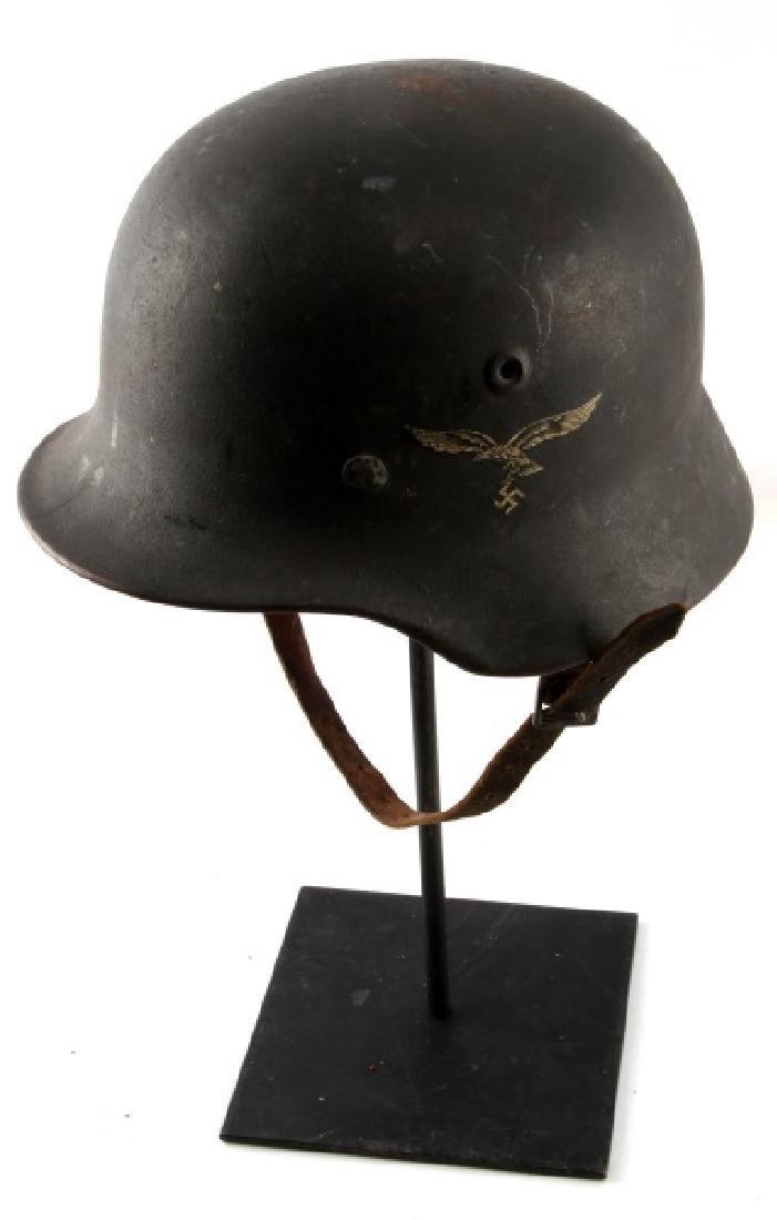 WWII GERMAN 3RD REICH LUFTWAFFE M40 COMBAT HELMET - 2