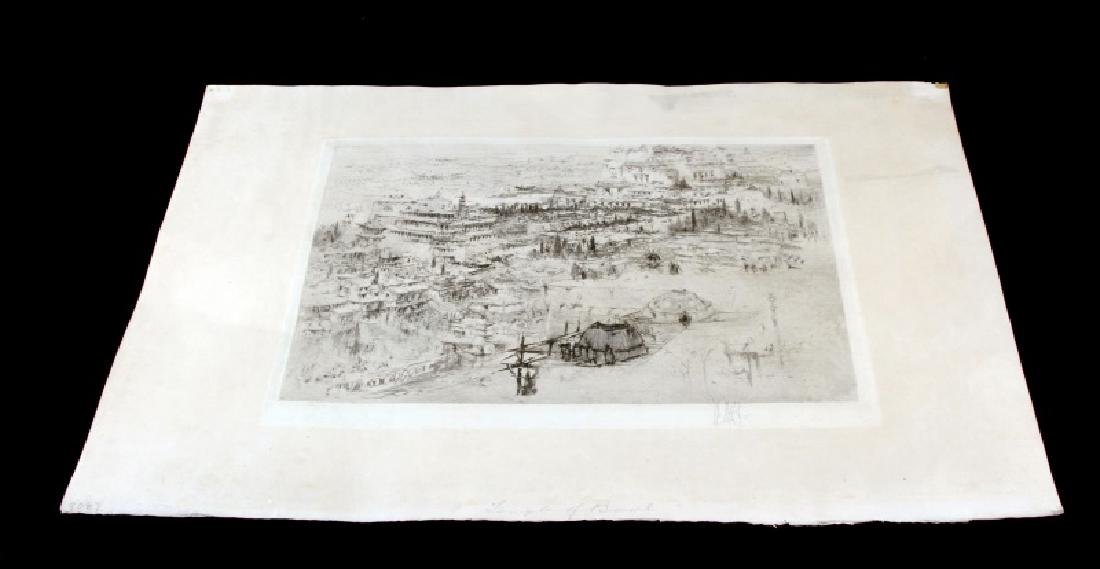 WILLIAM WALCOT THE TEMPLE OF BALL SIGNED ETCHING
