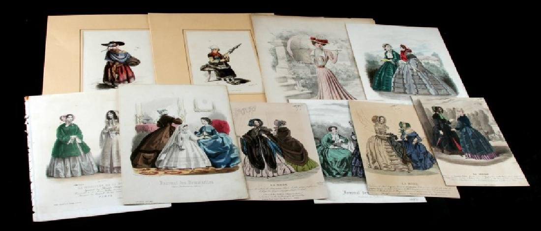 LOT OF 10 19TH CENTURY FRENCH FASHION PRINTS