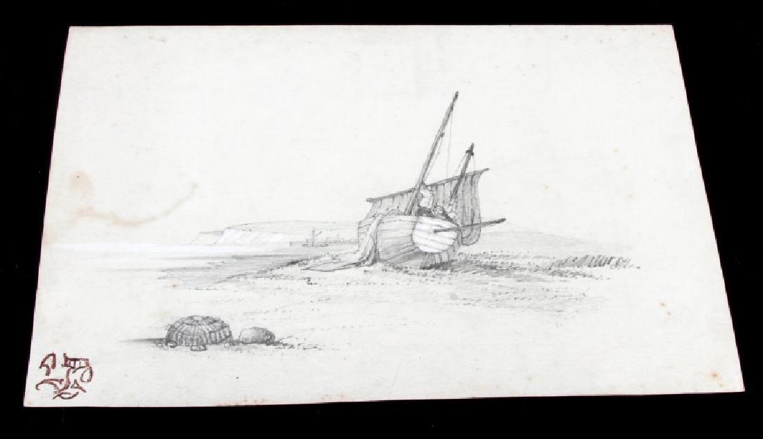 JAMES WHISTLER SEASCAPE PENCIL ON PAPER