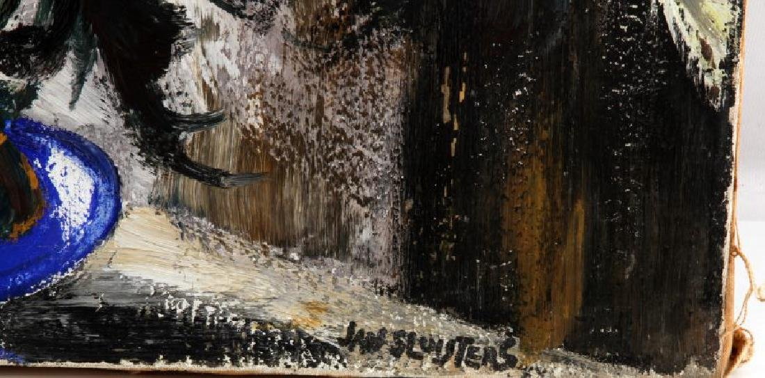 JAN SLUIJTERS FLORAL IN BLUE VASE OIL ON CANVAS - 5
