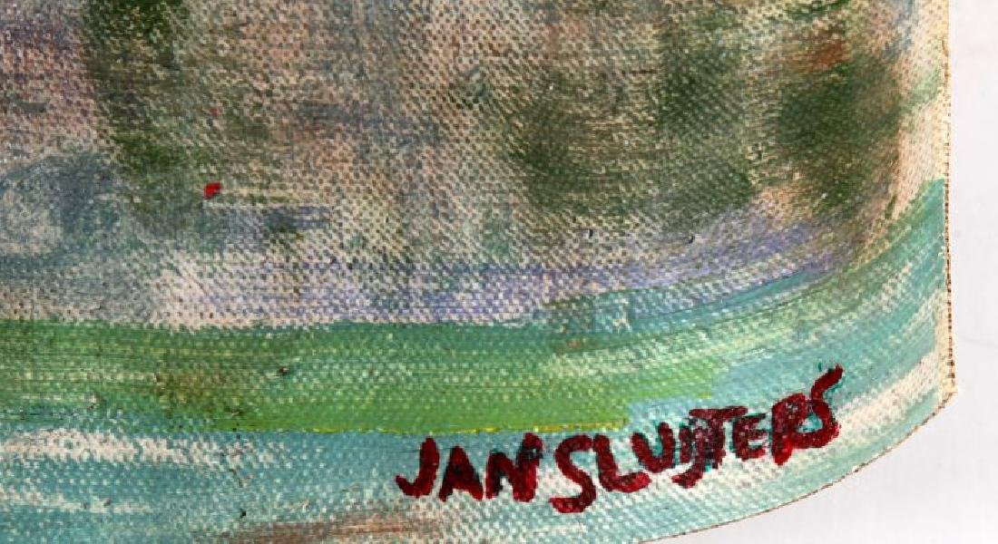 JAN SLUIJTERS FLORAL IN GLASS VASE OIL ON CANVAS - 4